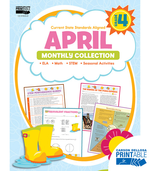 Carson-Dellosa April Monthly Collection, Grade 4 Teacher