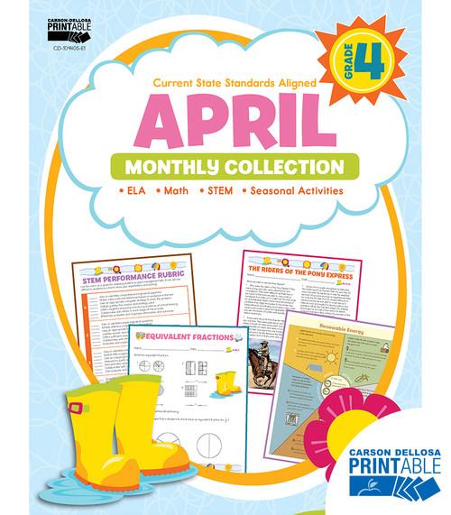 Carson-Dellosa April Monthly Collection, Grade 4 Teacher