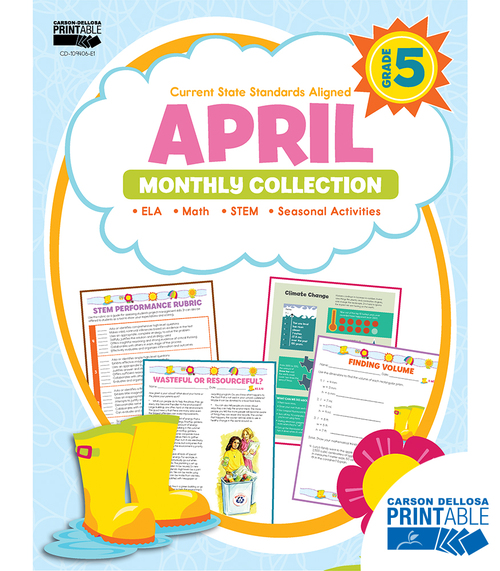 Carson-Dellosa April Monthly Collection, Grade 5 Teacher