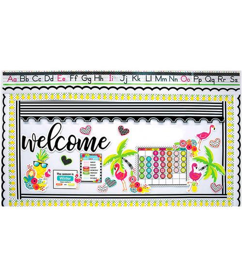 Simpy Stylish Tropical Classroom Virtual Background