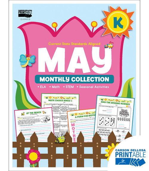 May Monthly Collection Grade K Free Printable