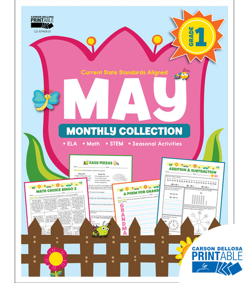 May Monthly Collection Grade 1 Free Printable