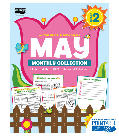 May Monthly Collection Grade 2 Free Printable