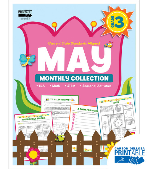 May Monthly Collection Grade 3 Free Printable