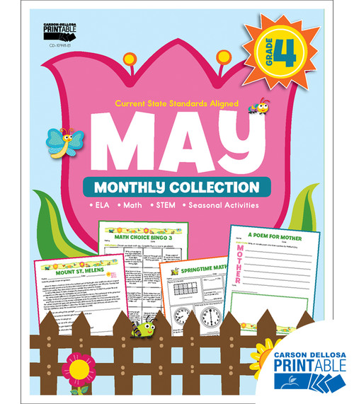 May Monthly Collection Grade 4 Free Printable