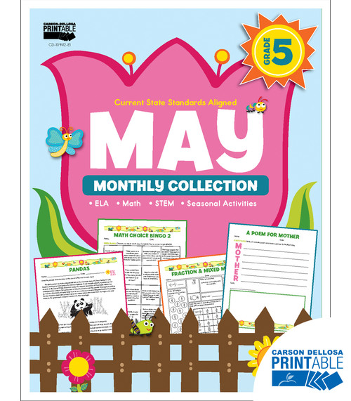 May Monthly Collection Grade 5 Free Printable