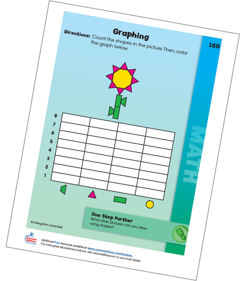 Graphing a Flower Grade K Free Printable