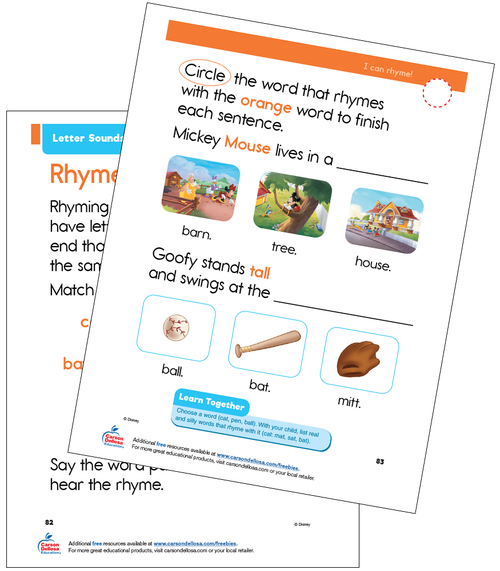Letter Sounds Disney Learning PreK Free Printable