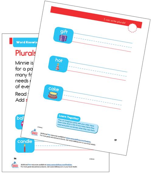 Word Knowledge Grade K Disney Learning Free Printable