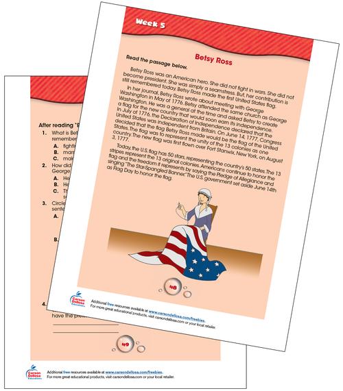 Betsy Ross: American Flag Free Printable