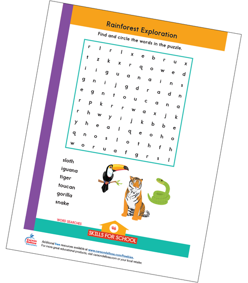 Rainforest Exploration Free Printable