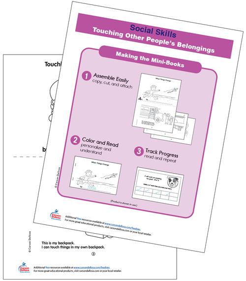 Touching Other People's Belongings Grade PK-2 Free Printable