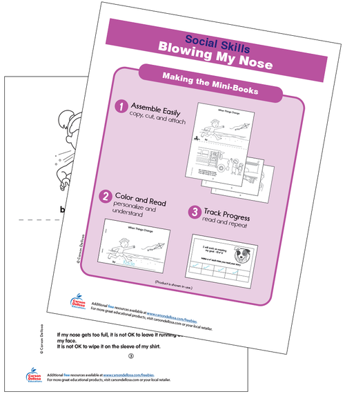 Blowing My Nose Grades PK-2 Free Printable