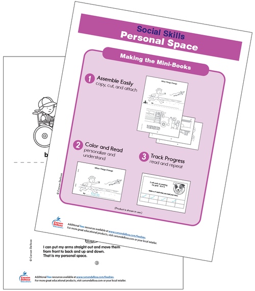 Personal Space Grades PK-2 Free Printable