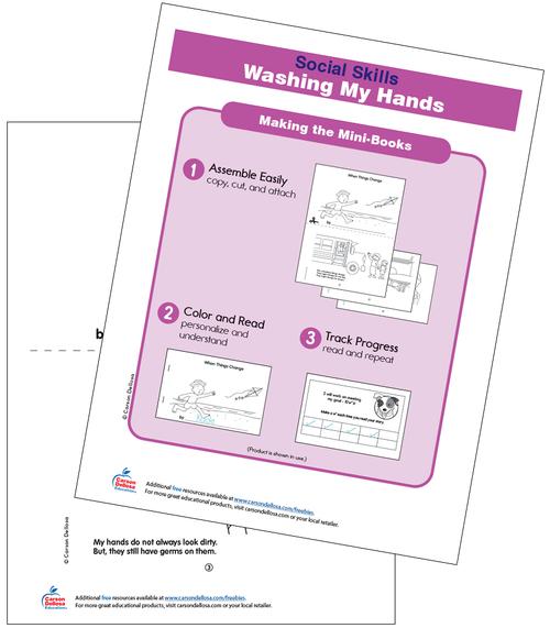Washing My Hands Grades PK-2 Free Printable