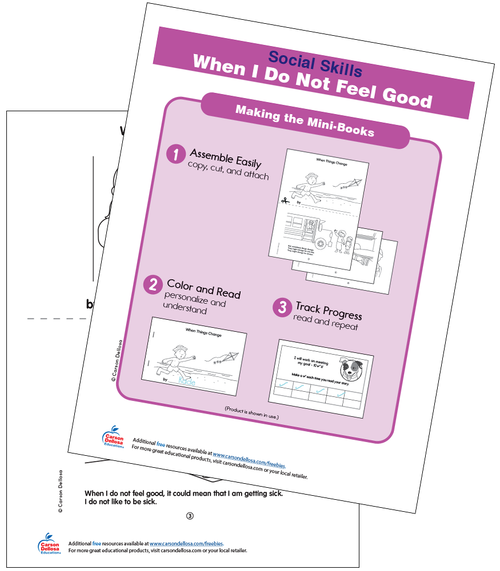 When I Do Not Feel Good Grades PK-2 Free Printable