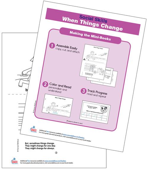 When Things Change Free Printable Grades PK-2 Free Printable