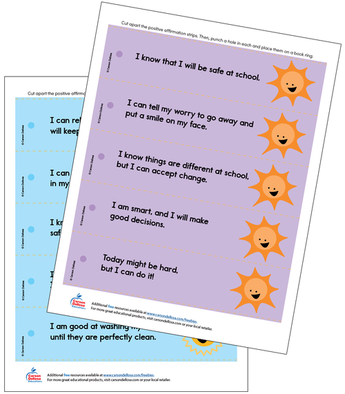 Positive Affirmations (Color) Grades PK-2 Free Printable