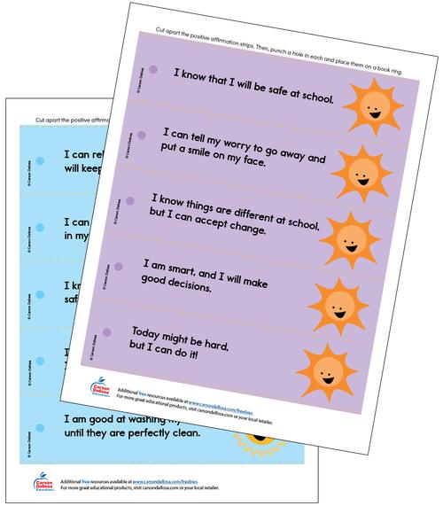 Positive Affirmations (Color) Grades PK-2 Free Printable