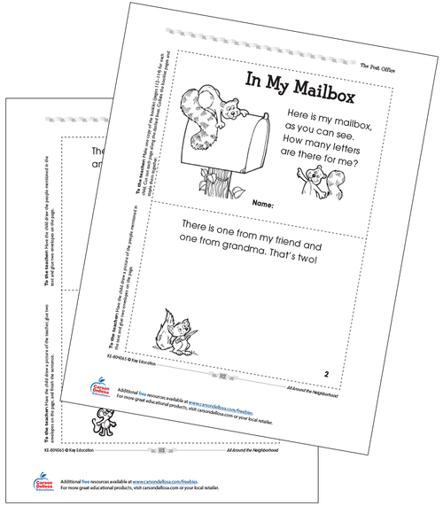 In My Mailbox Free Printable