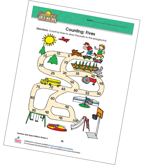 Counting: Fives Free Printable