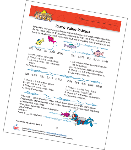 Place Value Riddles Free Printable