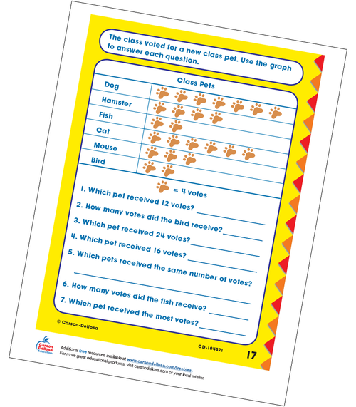 Class Pets Multiplication Grade 3 Free Printable