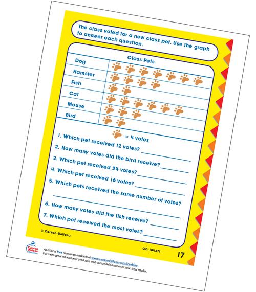 Class Pets Multiplication Grade 3 Free Printable