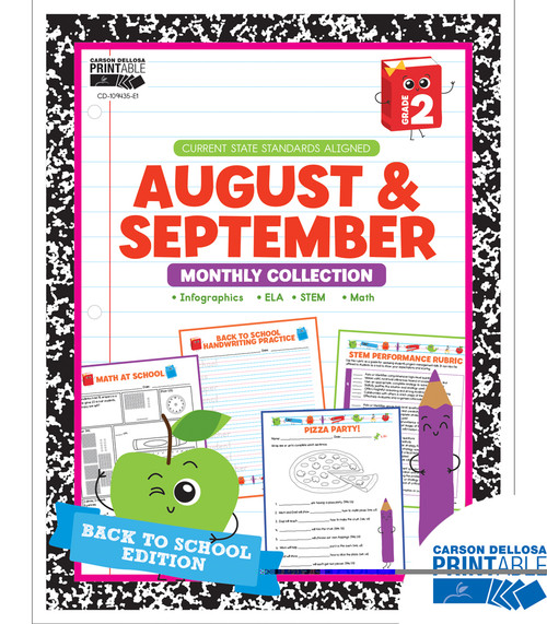 August & September Monthly Collection Grade 2 Free Printable