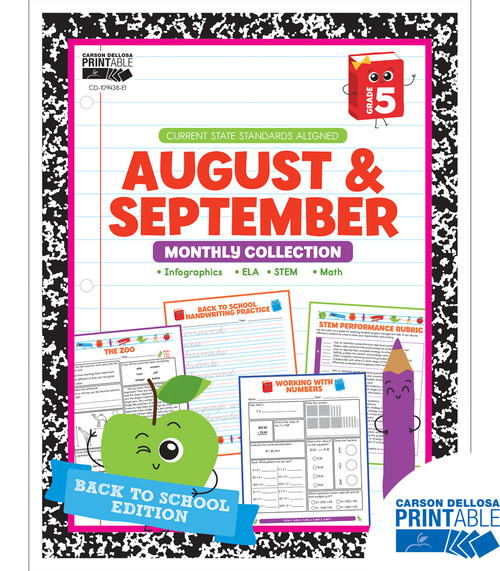 August & September Monthly Collection Grade 5 Free Printable