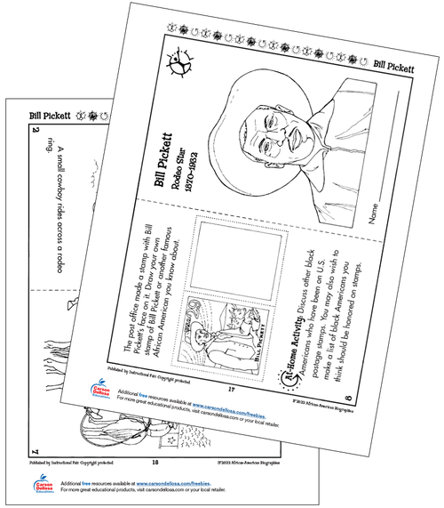 Bill Pickett Grades K-2 Free Printable
