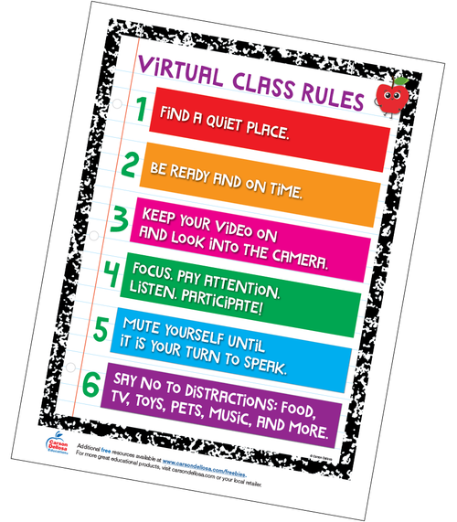 Virtual Classroom Rules Free Printable