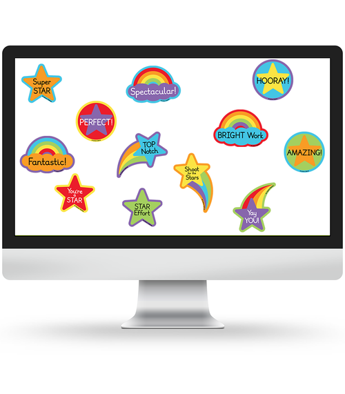 Celebrate Learning Motivational Stickers Virtual Collection