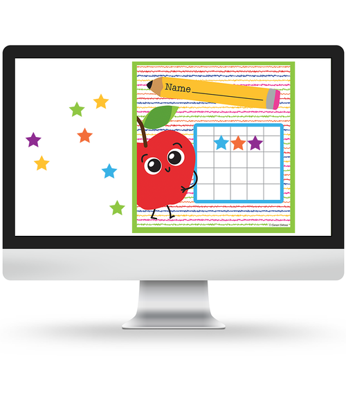 School Tools Mini Incentive Chart and Stickers Virtual Collection