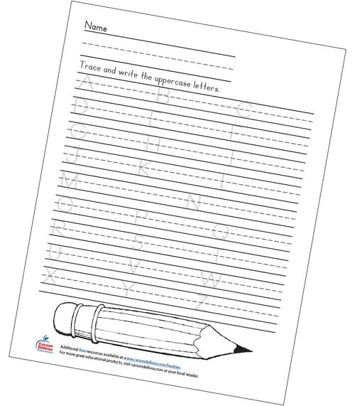Uppercase Handwriting Grades K-2 Free Printable