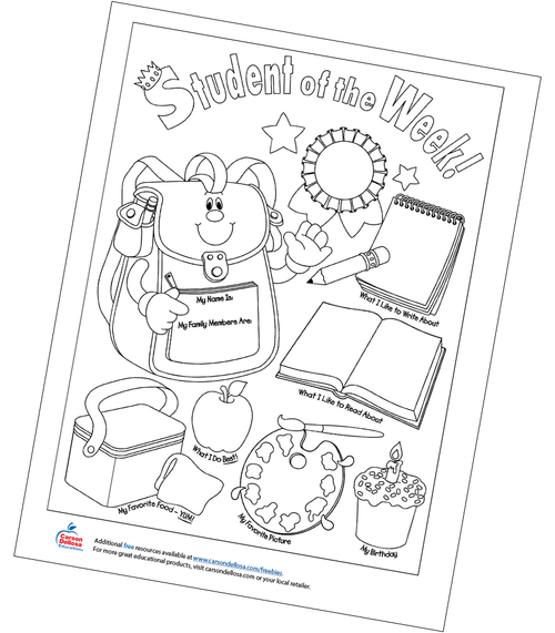 Student of the Week Free Printable