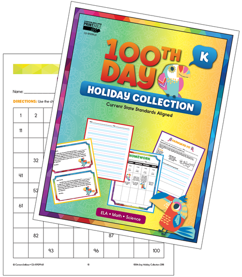 100th Day Holiday Printable Collection Grade K Free Printable