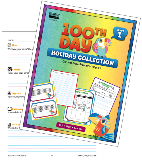 100th Day Holiday Printable Collection Grade 1 Free Printable