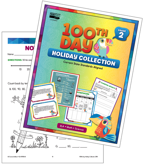 100th Day Holiday Printable Collection Grade 2 Free Printable