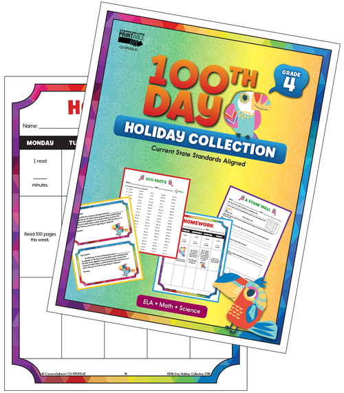 100th Day Holiday Printable Collection Grade 4 Free Printable