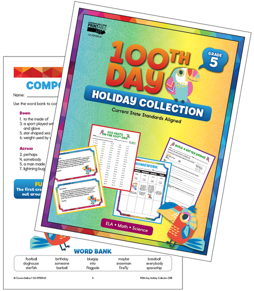 100th Day Holiday Printable Collection Grade 5 Free Printable