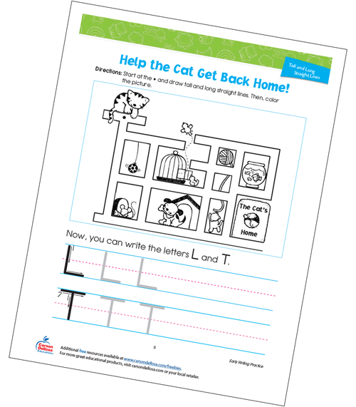 Help The Cat Get Back Home Free Printable