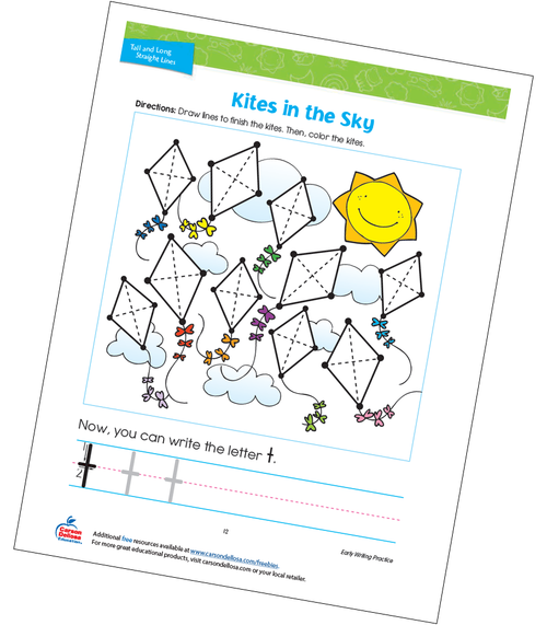 Kites in the Sky Free Printable
