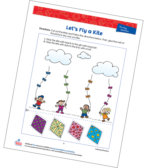 Let's Fly a Kite Free Printable
