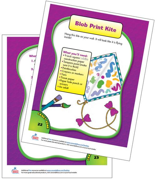 Blob Print Kite Free Printable