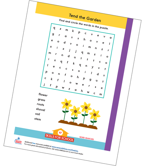 Tend the Garden Word Search Free Printable