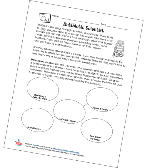 Antibiotic Scientist Free Printable