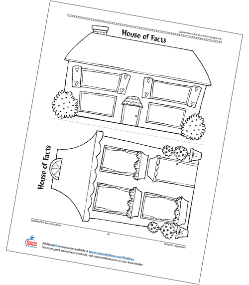 House of Facts Math Graphic Organizers Grades 3-4 Free Printable