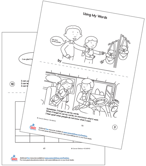 Using My Words Grades PK-2 Free Printable