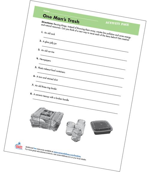 One Man's Trash Grades 4-5 Free Printable